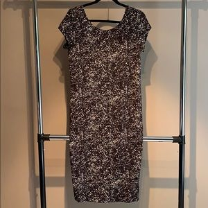 NWT - H&M Splatter-Paint Midi Dress - L